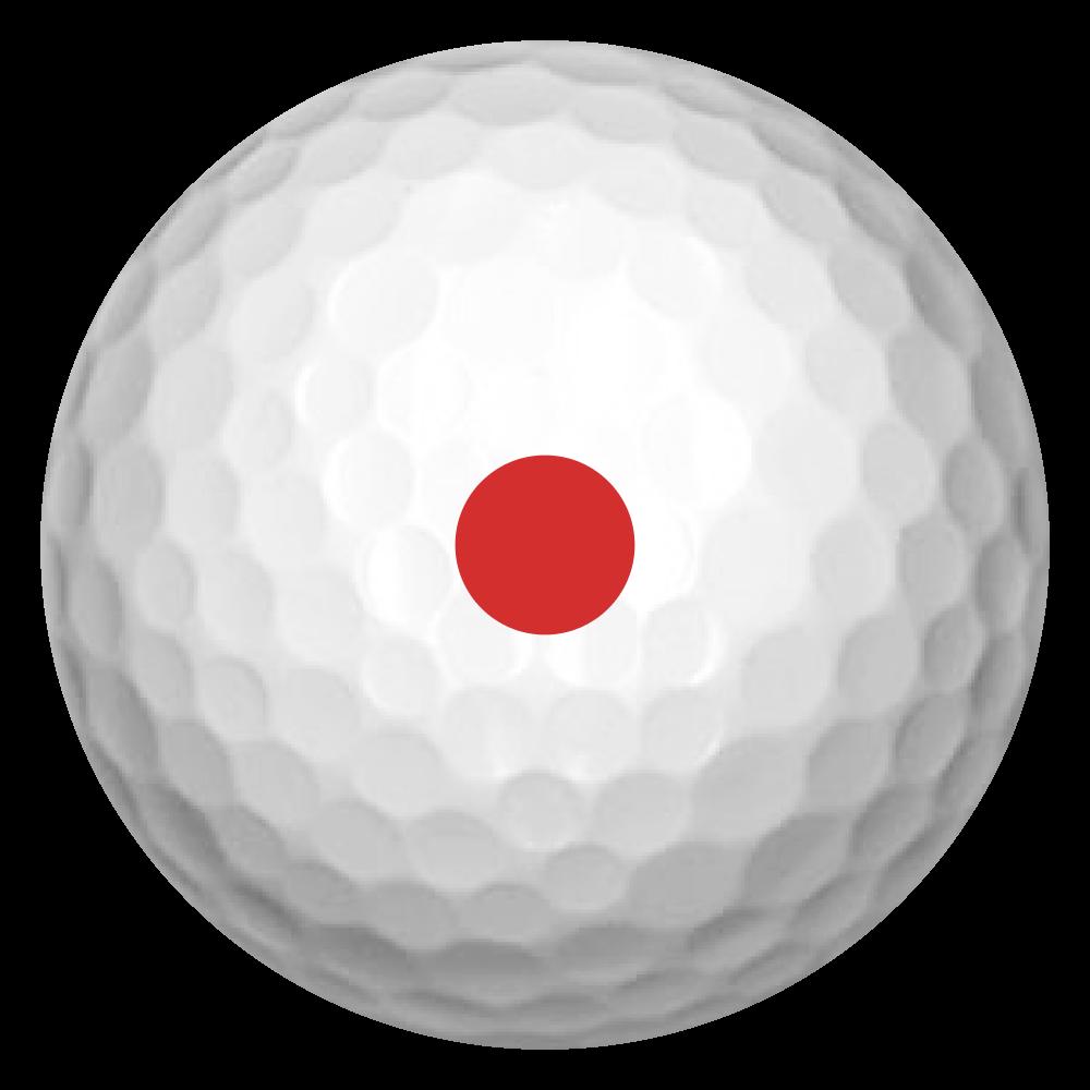 ビリヤード風 ゴルフボール(3個セット)