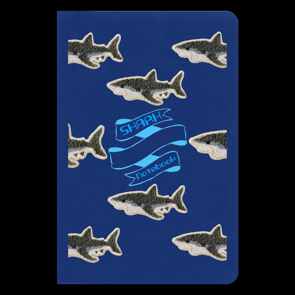 鮫刺繍 ノートブック ハードカバーノート(罫線)