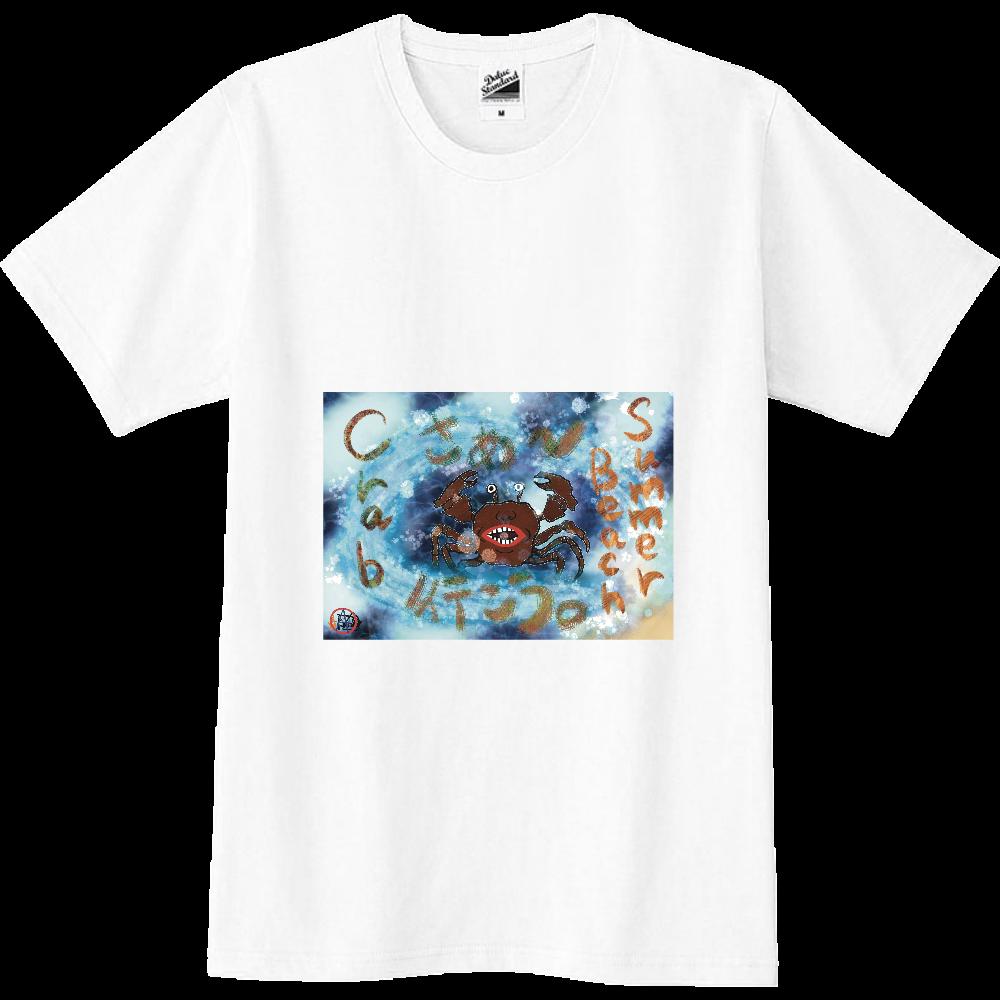 夏のビーチ「カニ」 ORILAB MARKET.Version.1 スリムTシャツ