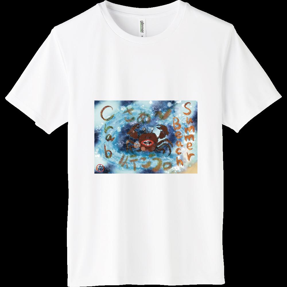 夏のビーチ「カニ」 ORILAB MARKET.Version.1 インターロックドライTシャツ