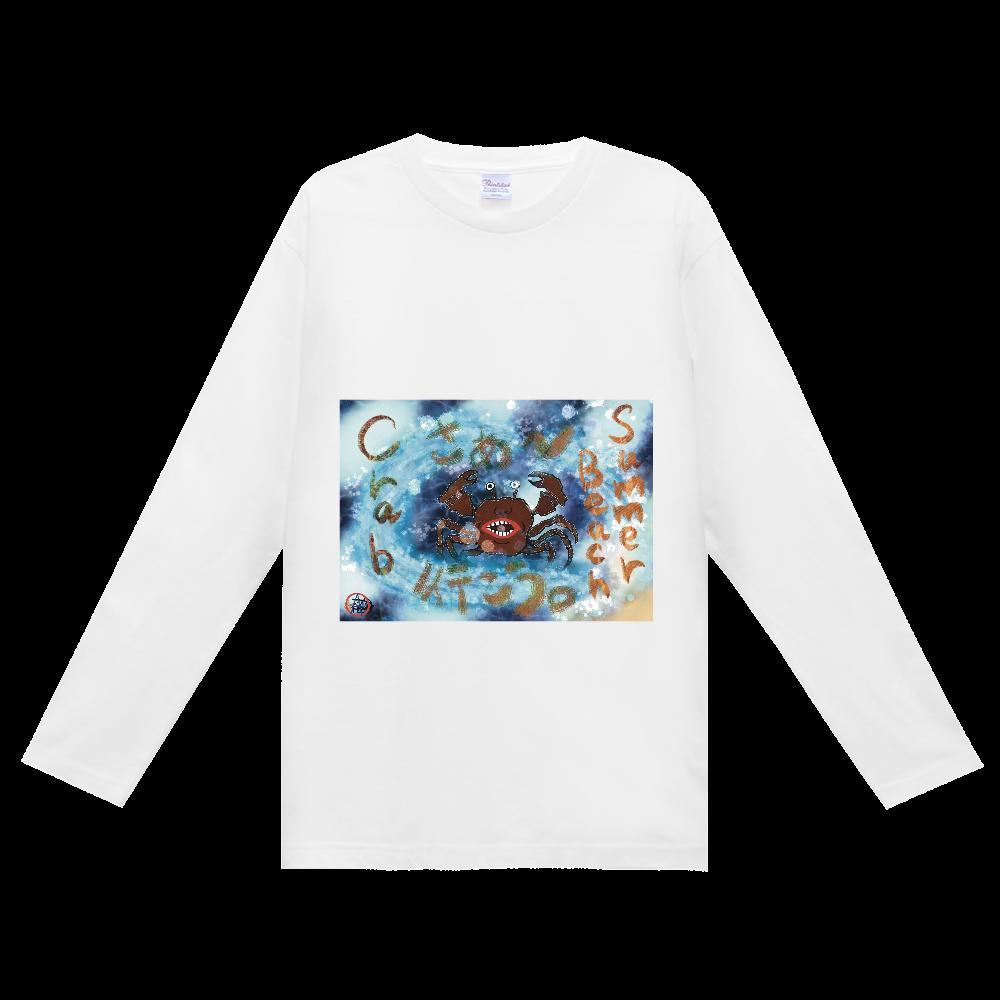 夏のビーチ「カニ」 ORILAB MARKET.Version.2 ヘビーウェイト長袖Tシャツ