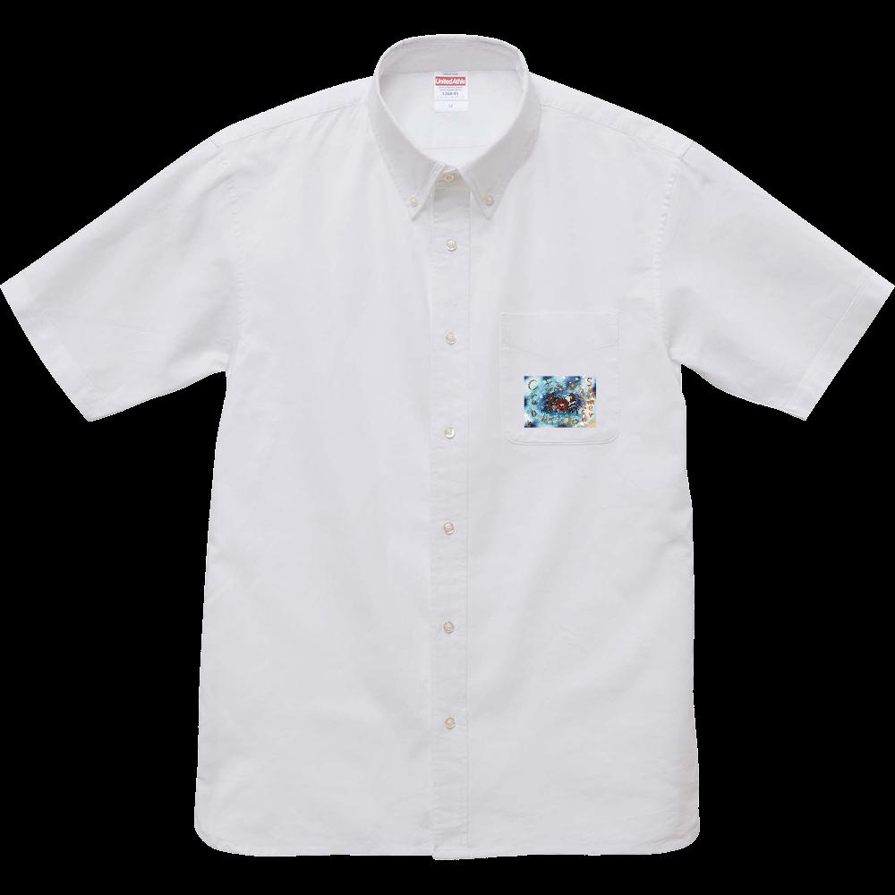 夏のビーチ「カニ」 ORILAB MARKET.Version.2 オックスフォードボタンダウンショートスリーブシャツ