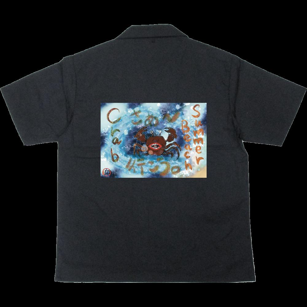 夏のビーチ「カニ」 ORILAB MARKET.Version.2 T/Cオープンカラーシャツ