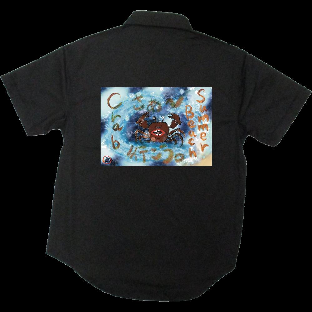 夏のビーチ「カニ」 ORILAB MARKET.Version.2 T/Cワークシャツ