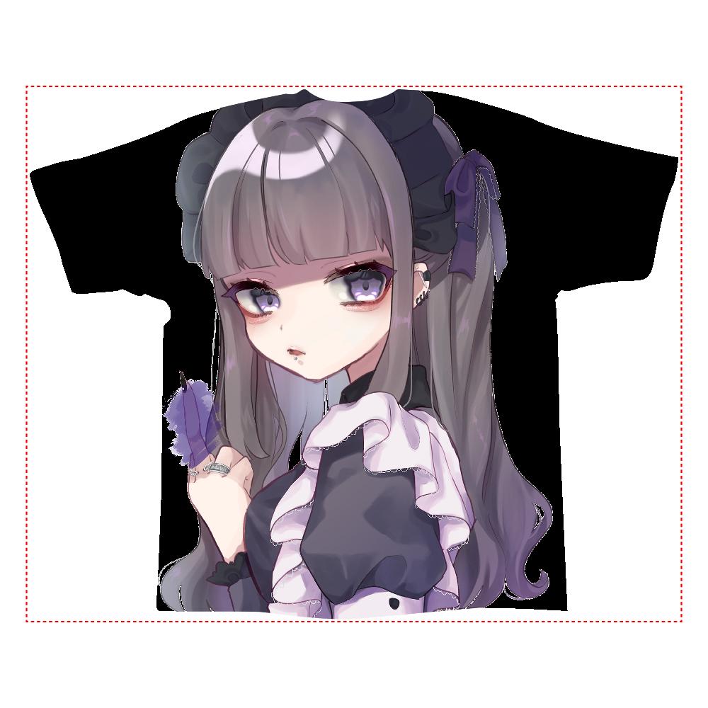 メイドちゃん 全面インクジェットTシャツ(XL)