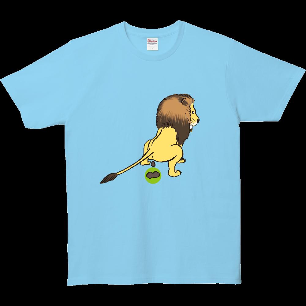 ウンチTシャツシリーズ、ライオン 5.0オンス ベーシックTシャツ(キッズ)
