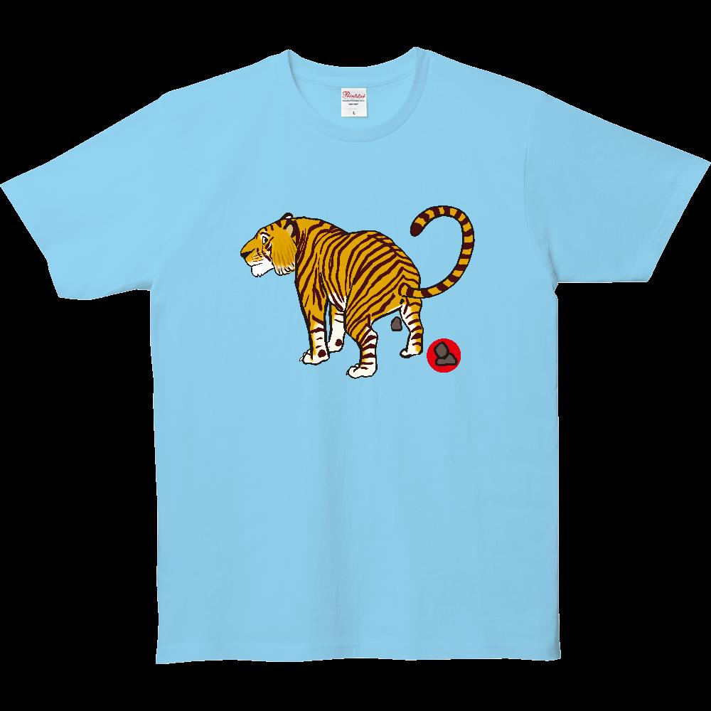 ウンチTシャツシリーズ、トラ 5.0オンス ベーシックTシャツ(キッズ)