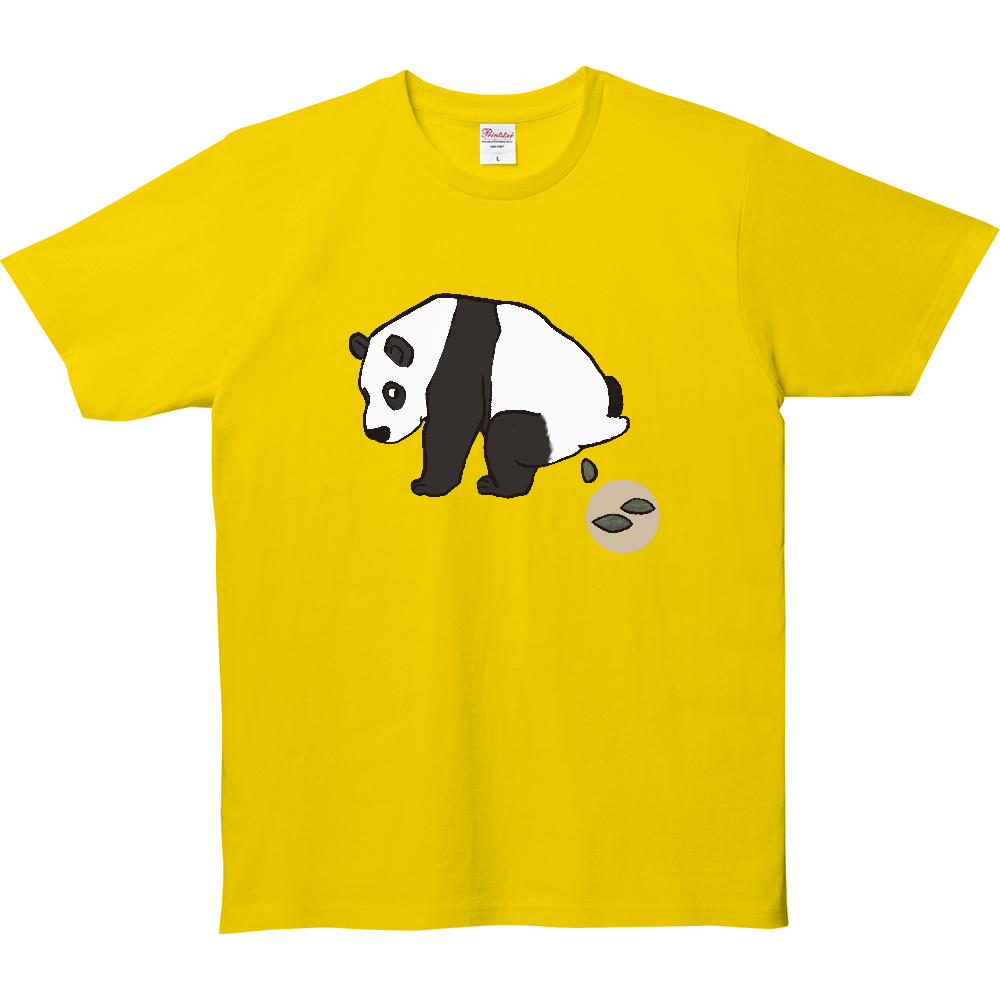 ウンチTシャツシリーズ、パンダ 5.0オンス ベーシックTシャツ(キッズ)