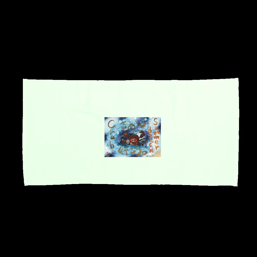 夏のビーチ「カニ」 ORILAB MARKET.Version.4 スポーツタオル