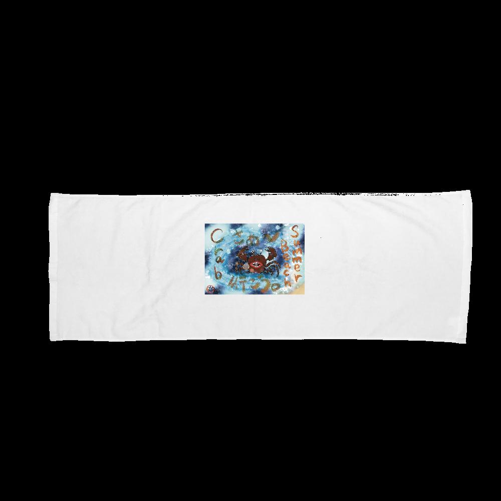 夏のビーチ「カニ」 ORILAB MARKET.Version.4 バスタオル