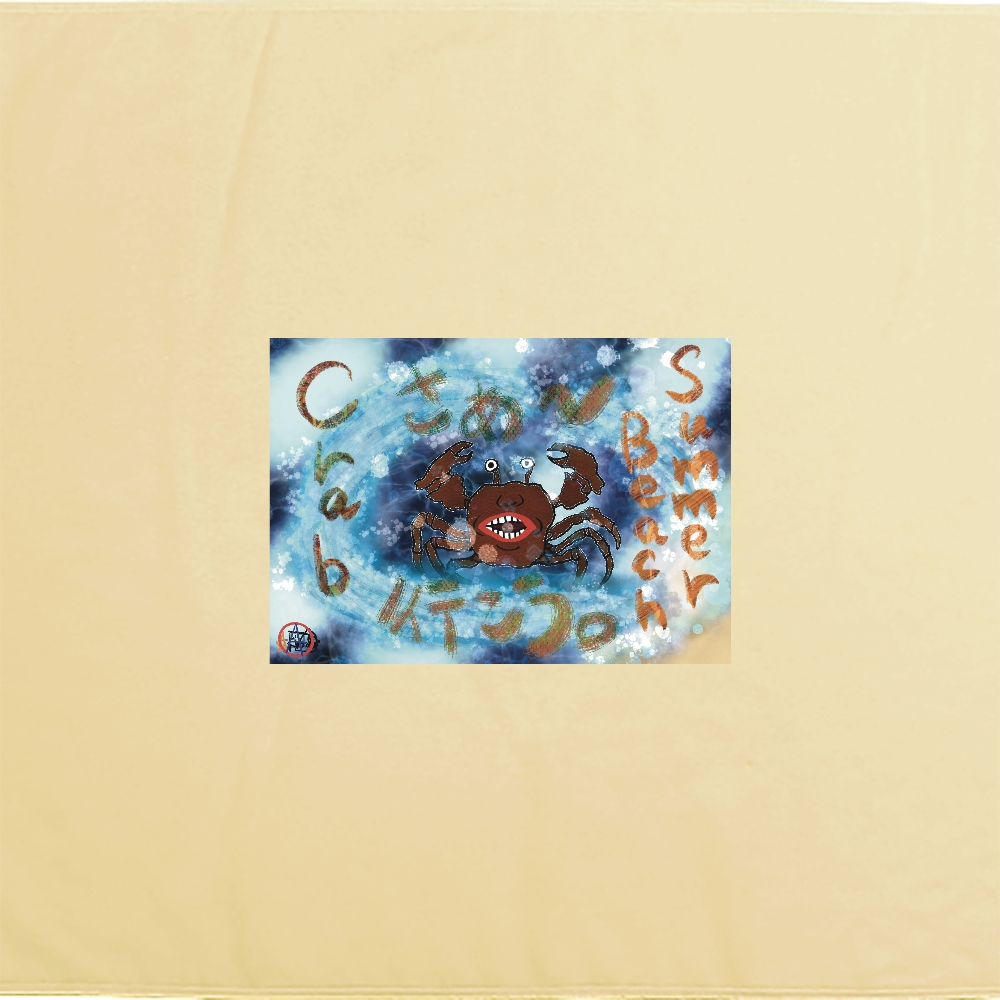 夏のビーチ「カニ」 ORILAB MARKET.Version.4 シャーリングバスタオル