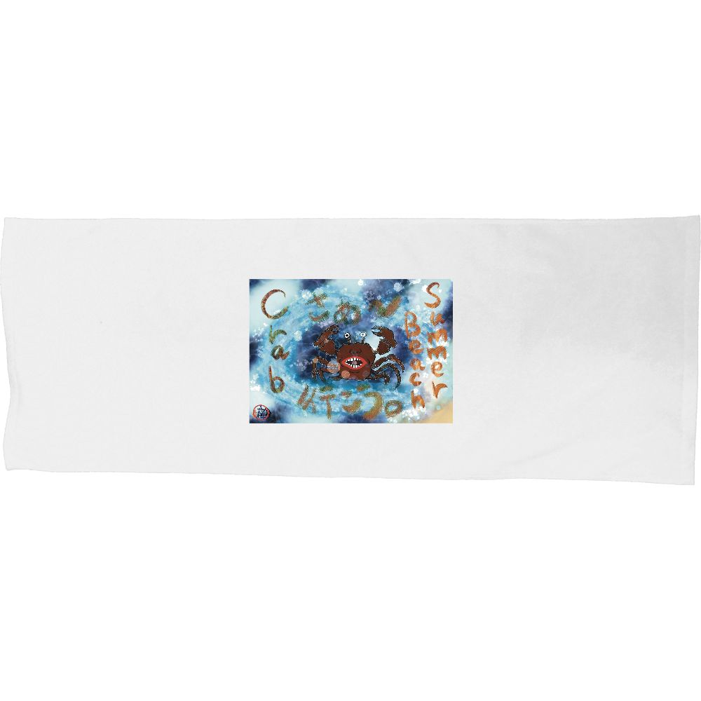 夏のビーチ「カニ」 ORILAB MARKET.Version.4 シャーリングスポーツタオル