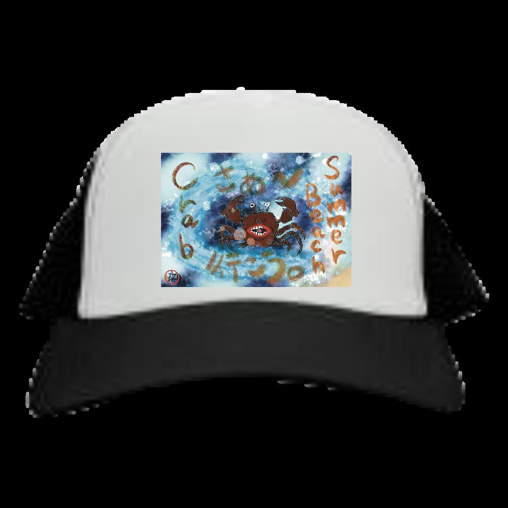 夏のビーチ「カニ」 ORILAB MARKET.Version.4 メッシュキャップ