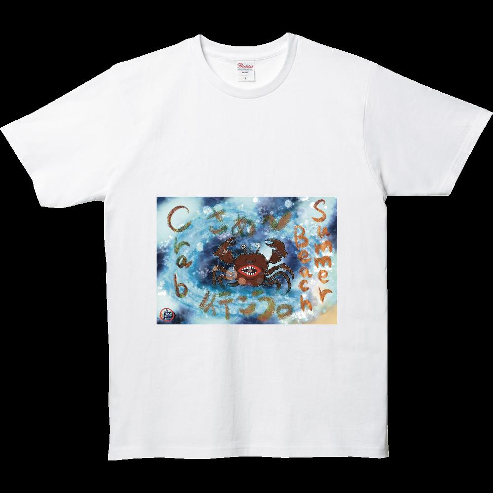 夏のビーチ「カニ」 ORILAB MARKET.Version.4 5.0オンス ベーシックTシャツ(キッズ)
