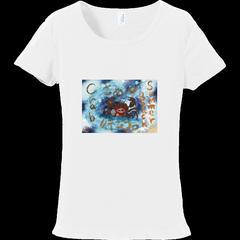 夏のビーチ「カニ」 ORILAB MARKET.Version.4 フライスTシャツ