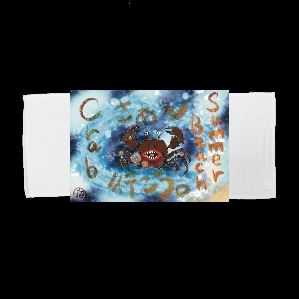 夏のビーチ「カニ」 ORILAB MARKET.Version.4 全面インクジェットフェイスタオル