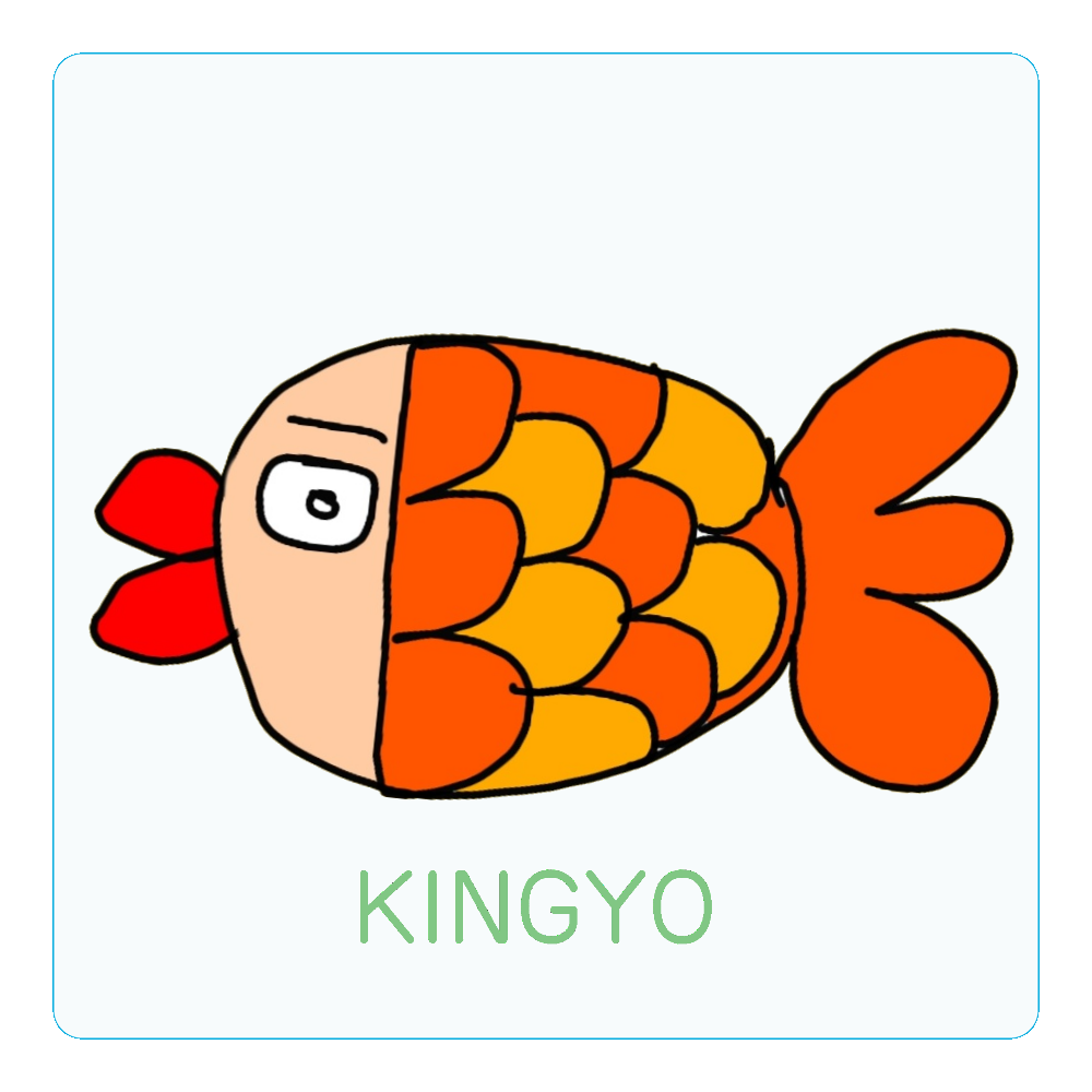 きんぎょちゃん アクリルコースター(四角)