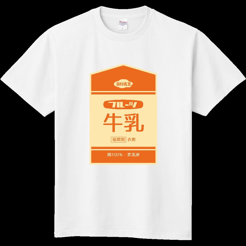 レトロなフルーツ牛乳 定番Tシャツ