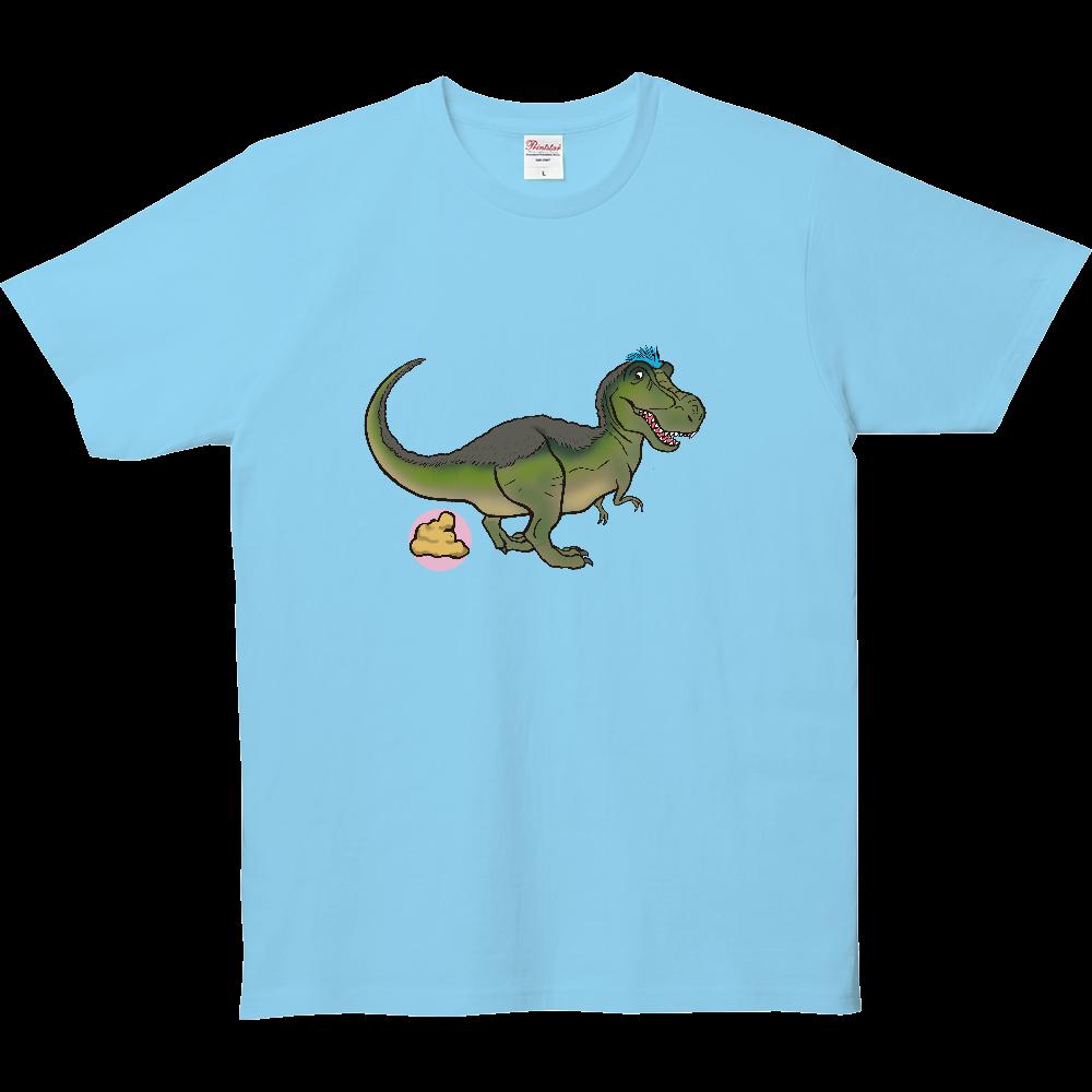 ウンチTシャツシリーズ、ティラノザウルス 5.0オンス ベーシックTシャツ(キッズ)