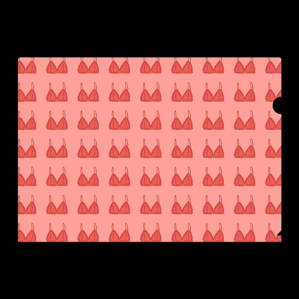 ランジェリー柄 A4フルグラフィッククリアファイル