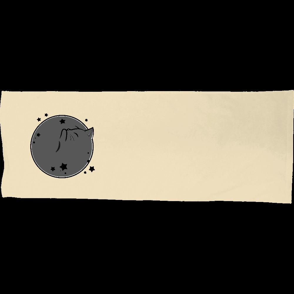 アンモナ(ニャ)イト・黒 シャーリングスポーツタオル シャーリングスポーツタオル