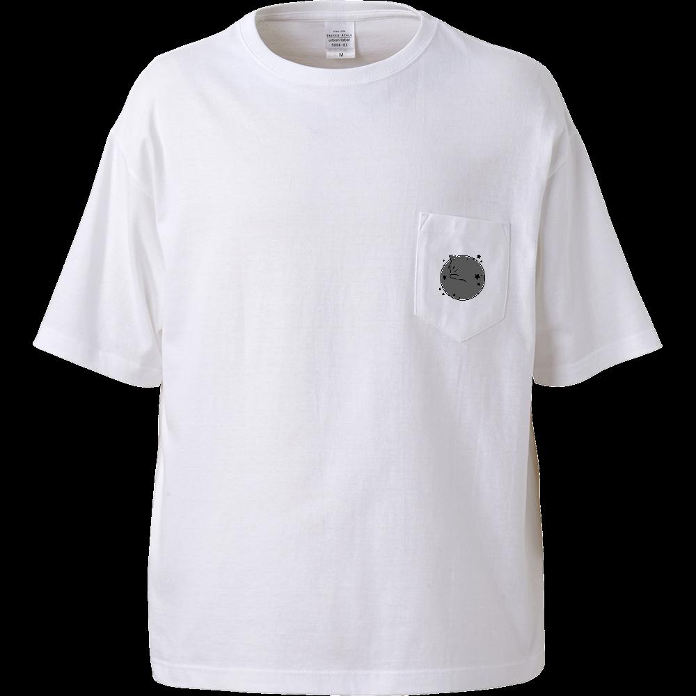 アンモナ(ニャ)イト・黒 ビッグシルエットTシャツ(ポケット付)  ビッグシルエットTシャツ(ポケット付)