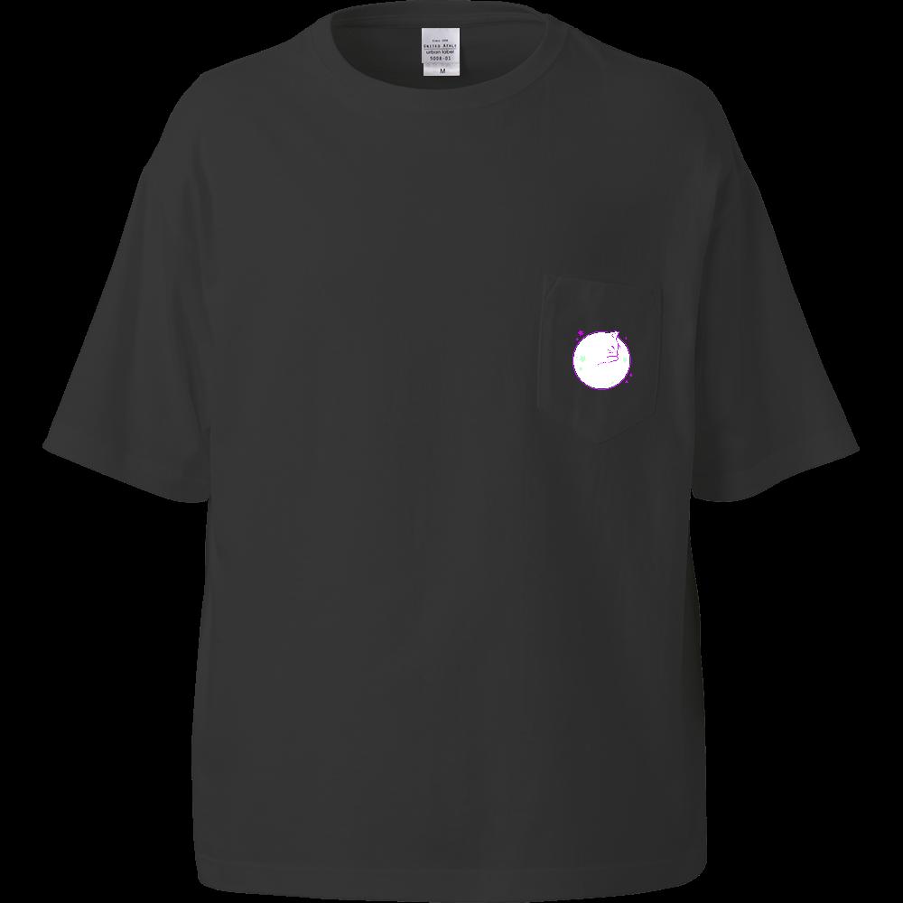 アンモナ(ニャ)イト・白 ビッグシルエットTシャツ(ポケット付)  ビッグシルエットTシャツ(ポケット付)