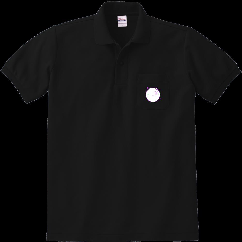 アンモナ(ニャ)イト・白 定番ポロシャツ(ポケット付き) 定番ポロシャツ(ポケット付き)