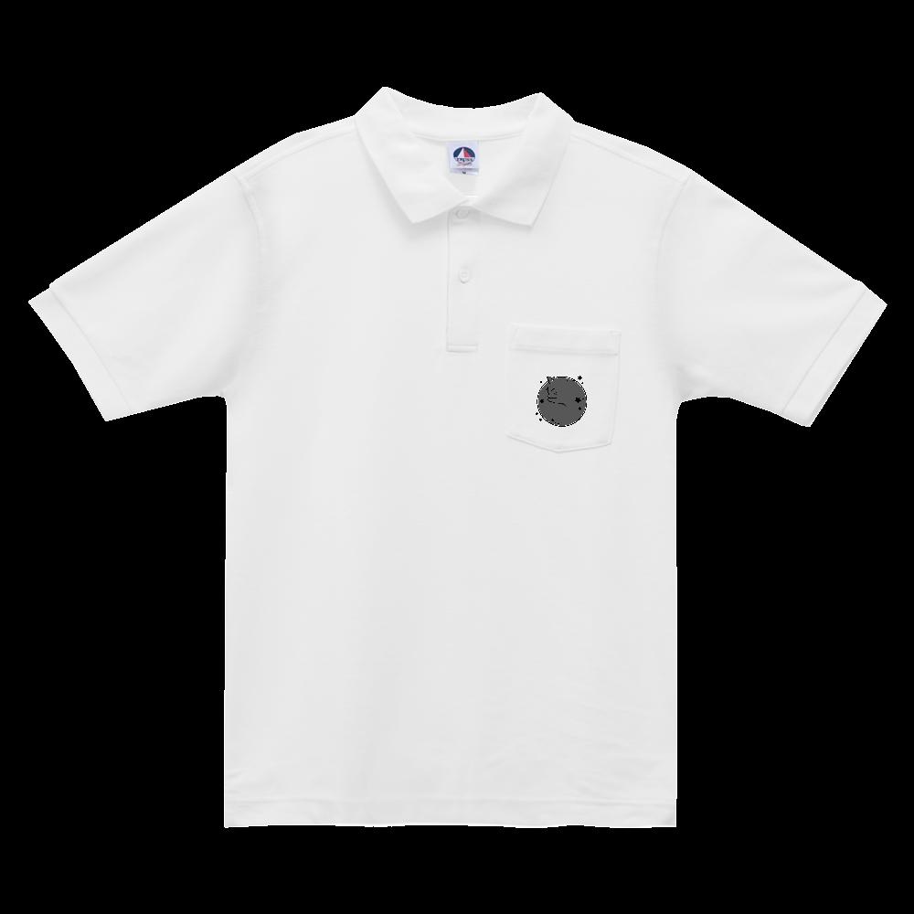 アンモナ(ニャ)イト・黒 ベーシックスタイルポロシャツ(ポケット付) ベーシックスタイルポロシャツ(ポケット付)