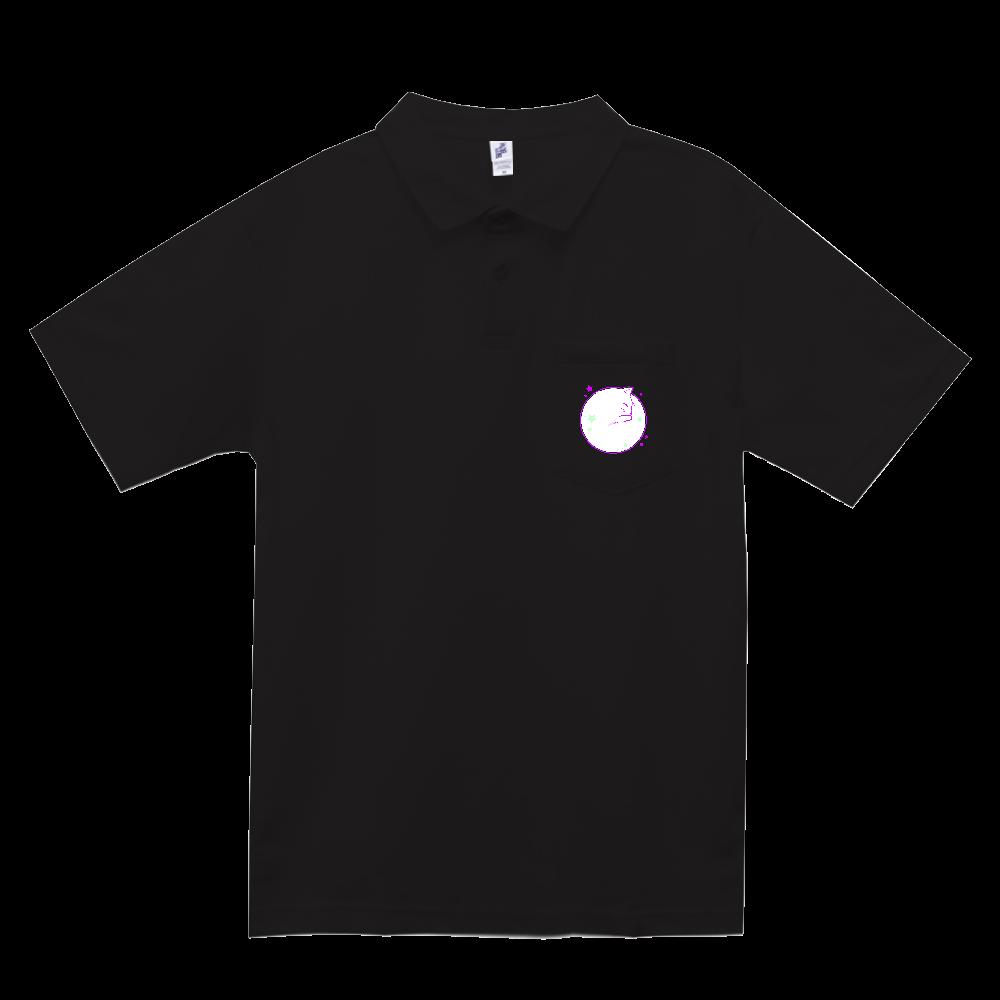 アンモナ(ニャ)イト・白 ポケット付きアクティブポロシャツ ポケット付きアクティブポロシャツ