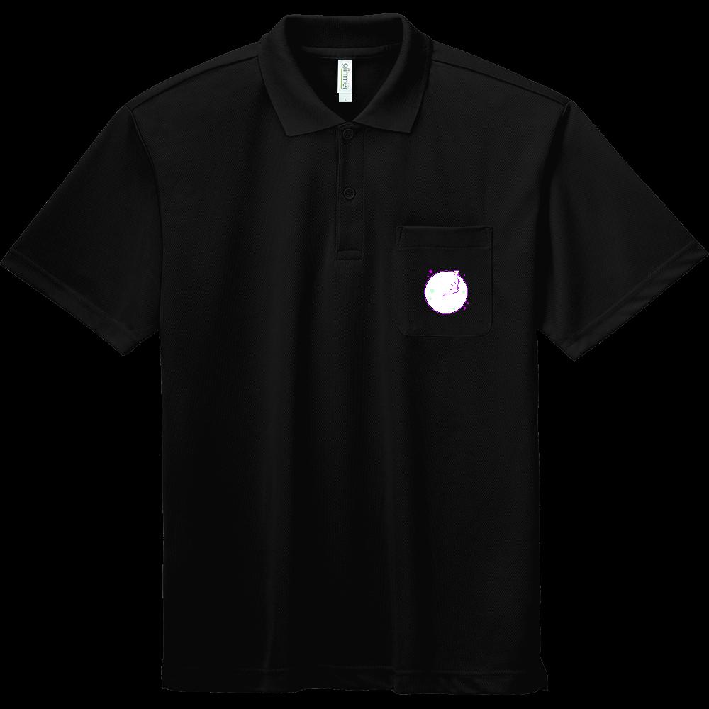 アンモナ(ニャ)イト・白 ドライポロシャツ(ポケット付き) ドライポロシャツ(ポケット付き)