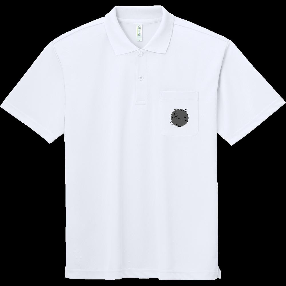 アンモナ(ニャ)イト・黒 ドライポロシャツ(ポケット付き) ドライポロシャツ(ポケット付き)