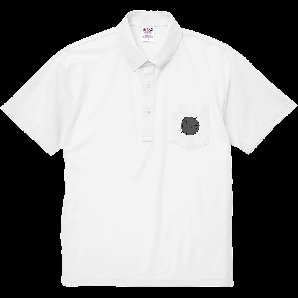 アンモナ(ニャ)イト・黒 スペシャルドライカノコポケットポロシャツ スペシャルドライカノコポケットポロシャツ