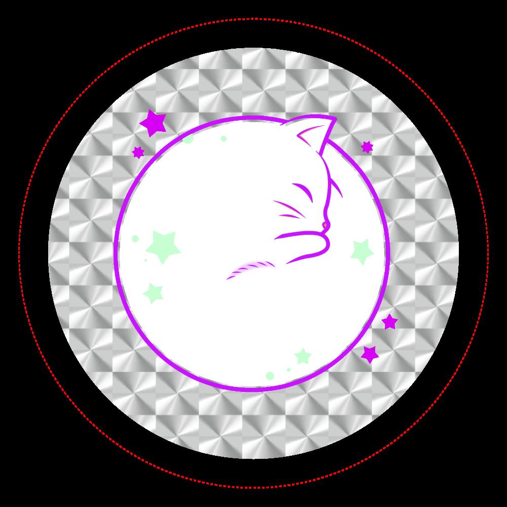 アンモナ(ニャ)イト・白 ホログラムオリジナル缶バッジ(56mm) ホログラムオリジナル缶バッジ(56mm)