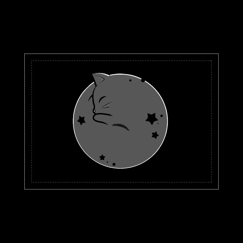 アンモナ(ニャ)イト・黒 ブランケット - 700 x 1000 (mm) - ポリエステル ブランケット - 700 x 1000 (mm) - ポリエステル