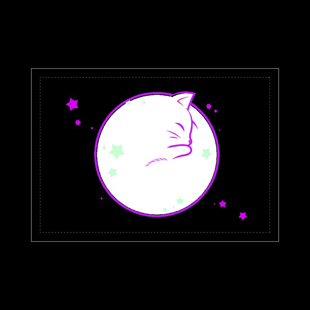アンモナ(ニャ)イト・白 ブランケット - 700 x 1000 (mm) - ポリエステル ブランケット - 700 x 1000 (mm) - ポリエステル