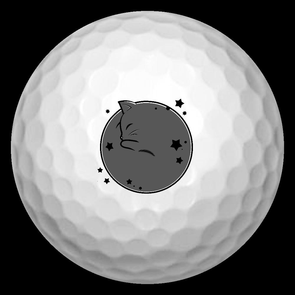 アンモナ(ニャ)イト・黒 ゴルフボール(3個セット) ゴルフボール(3個セット)