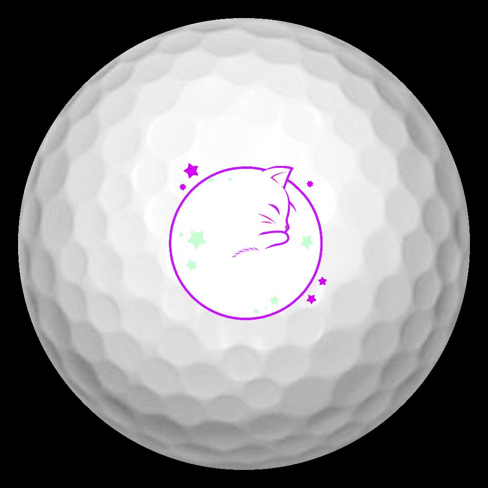 アンモナ(ニャ)イト・白 ゴルフボール(3個セット) ゴルフボール(3個セット)