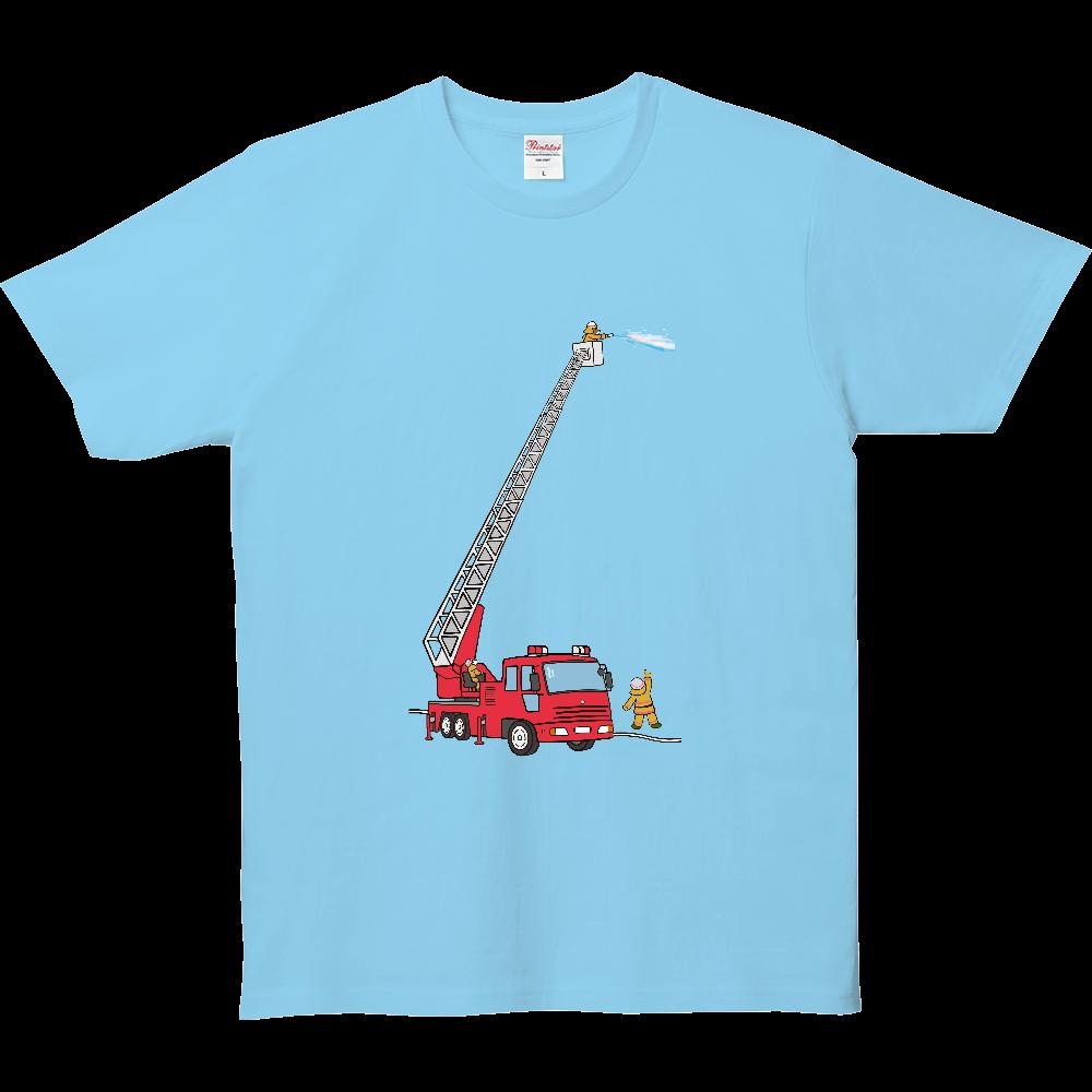 のりものいっぱい、はしご車 5.0オンス ベーシックTシャツ(キッズ)