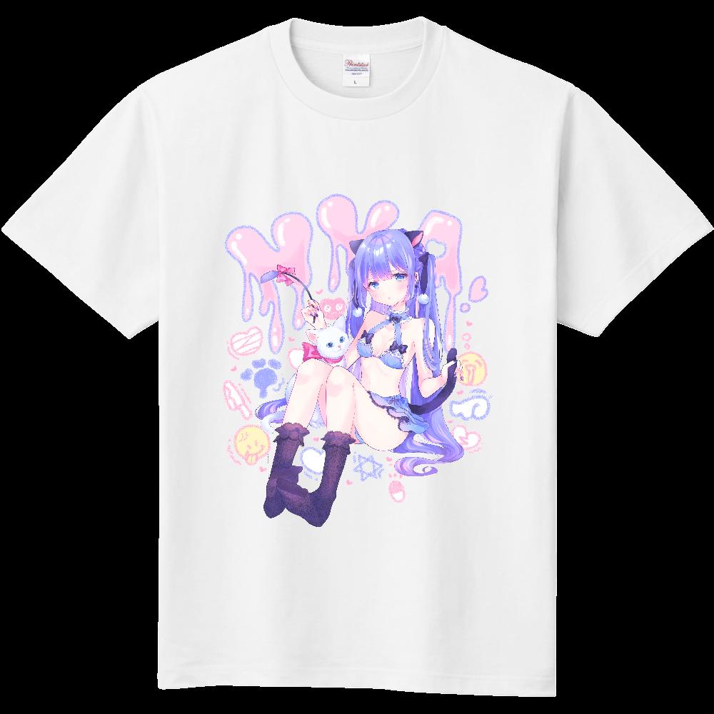 ゆめかわクロネコちゃん(裏デザイン有) 定番Tシャツ