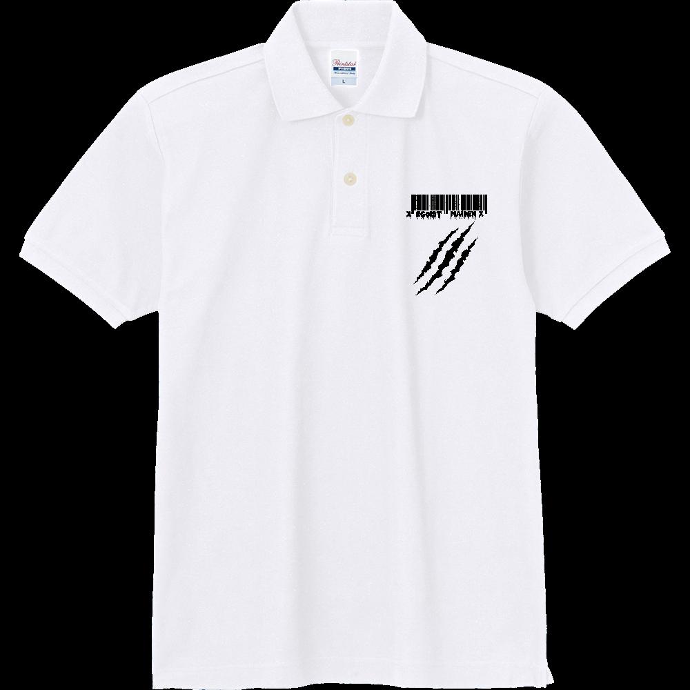 バックプリントあり 傷跡シャツ 定番ポロシャツ