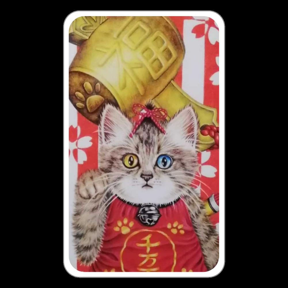 パスケース 招き猫 フラットパスケース