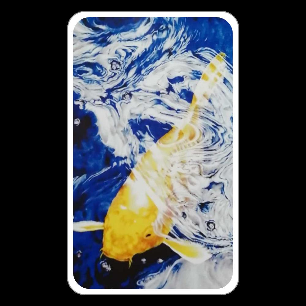 パスケース 黄金の鯉 フラットパスケース