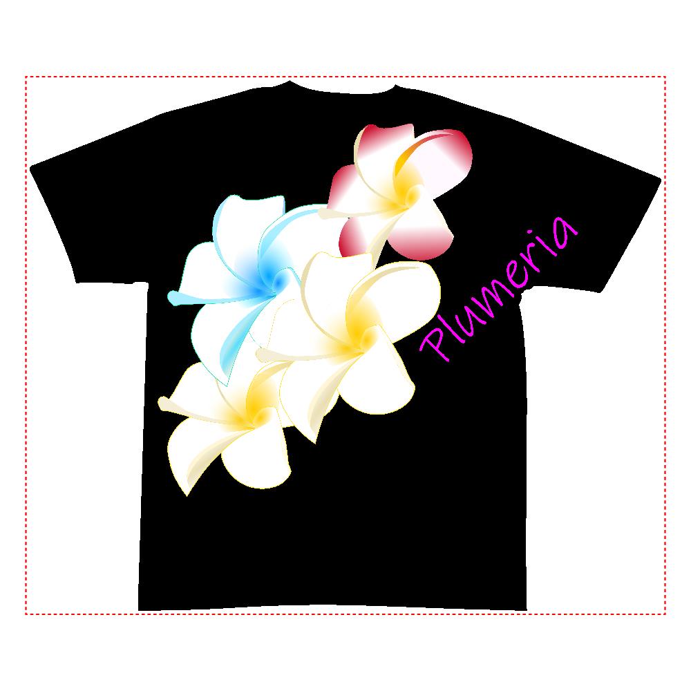 プルメリア 全面インクジェットTシャツ(S)