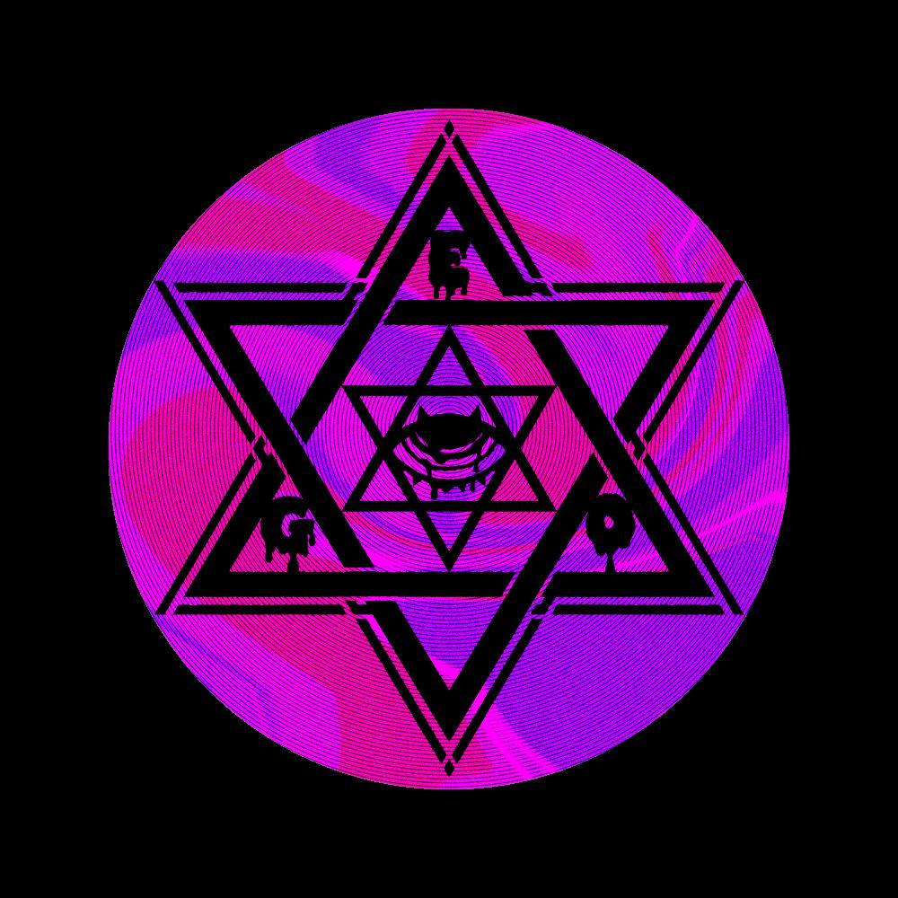 六芒星と目 56㎜缶バッジ