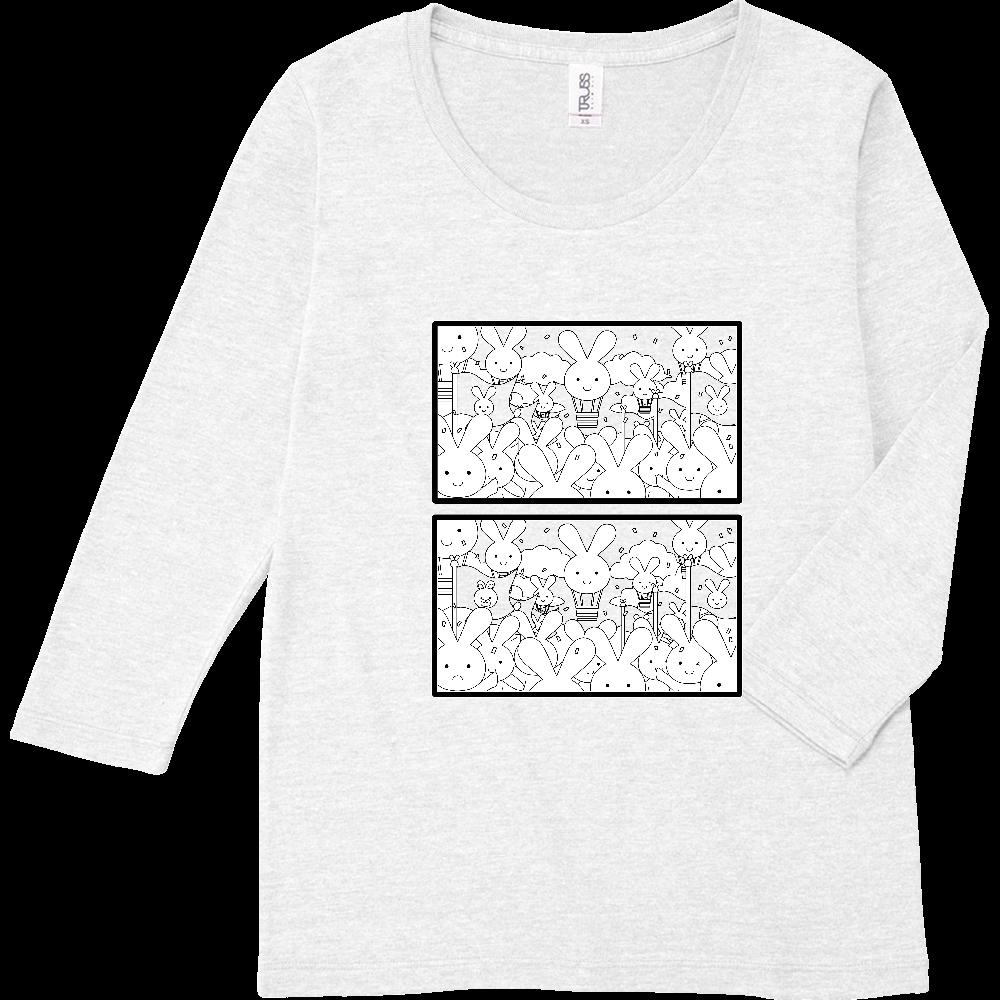 まちがいさがしレディース7分袖T(建国記念日編) トライブレンド7分袖レディースTシャツ