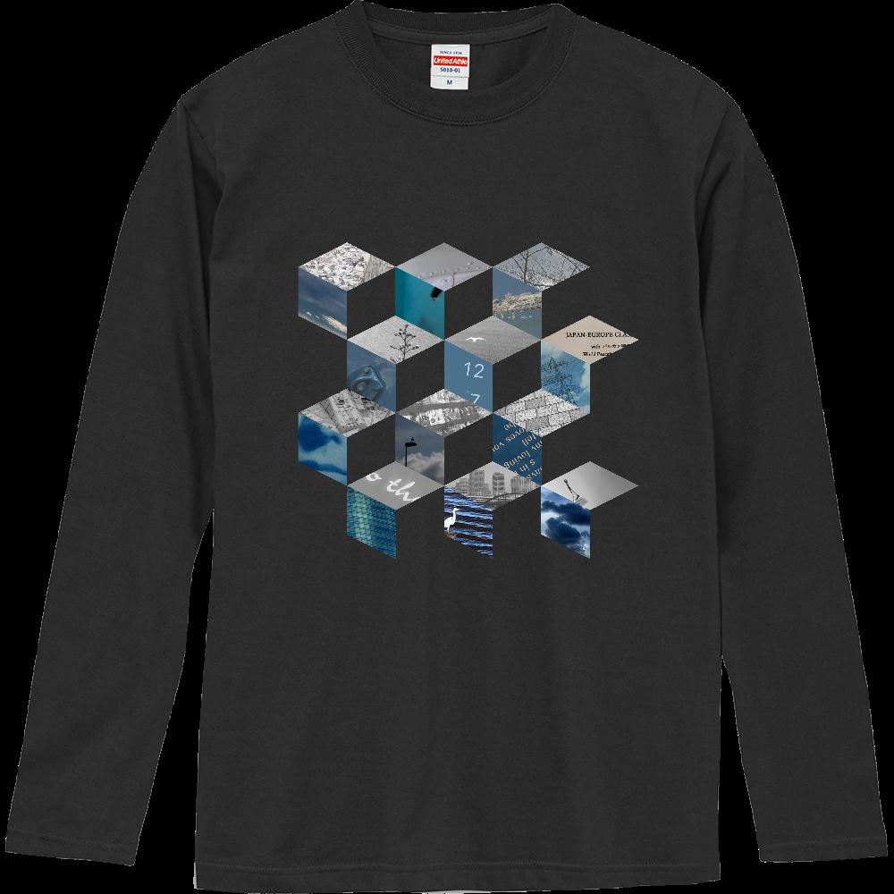 「キューブ コラージュ」Tシャツ ロングスリーブTシャツ