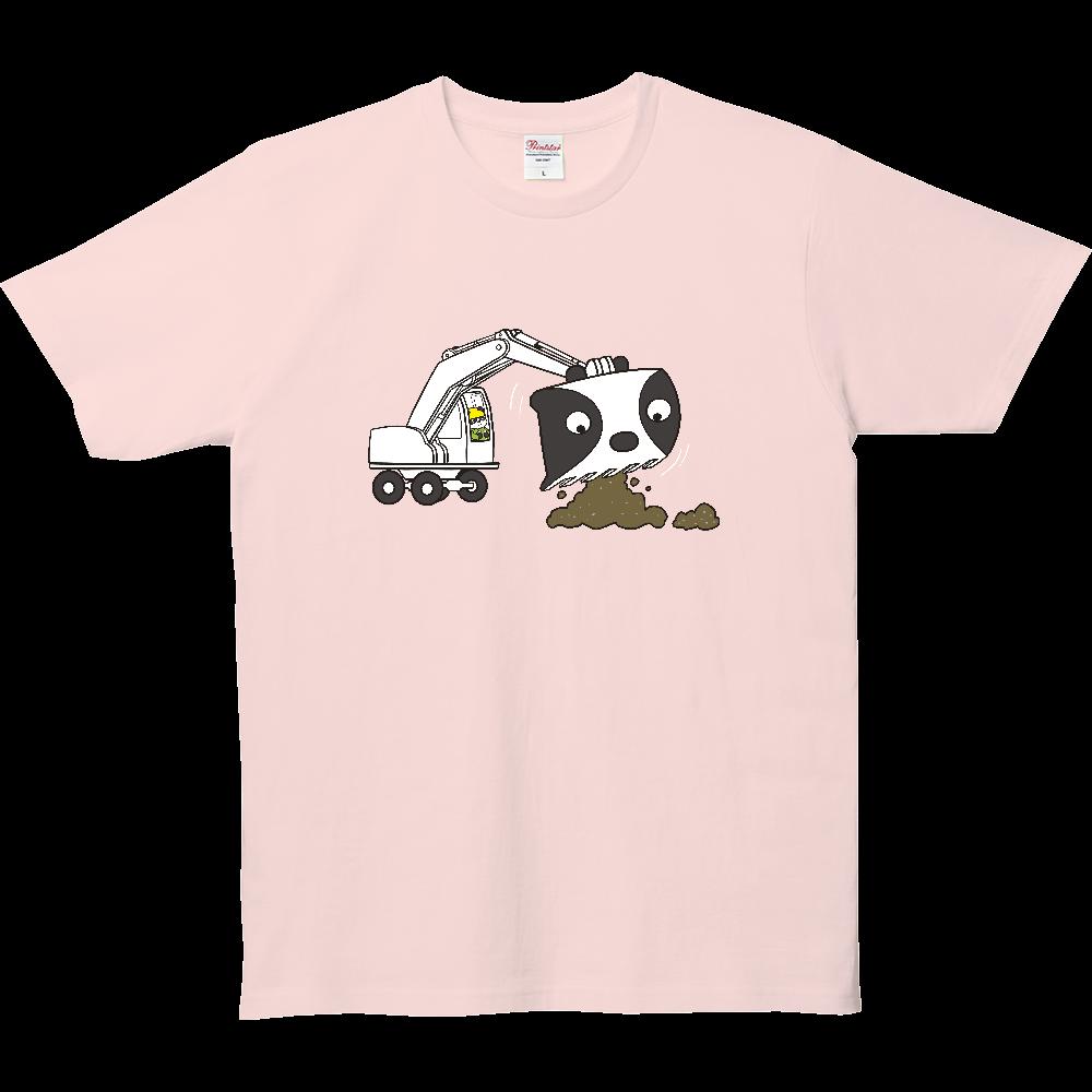 パンダTシャツシリーズ、パワーシャベルパンダ 5.0オンス ベーシックTシャツ(キッズ)