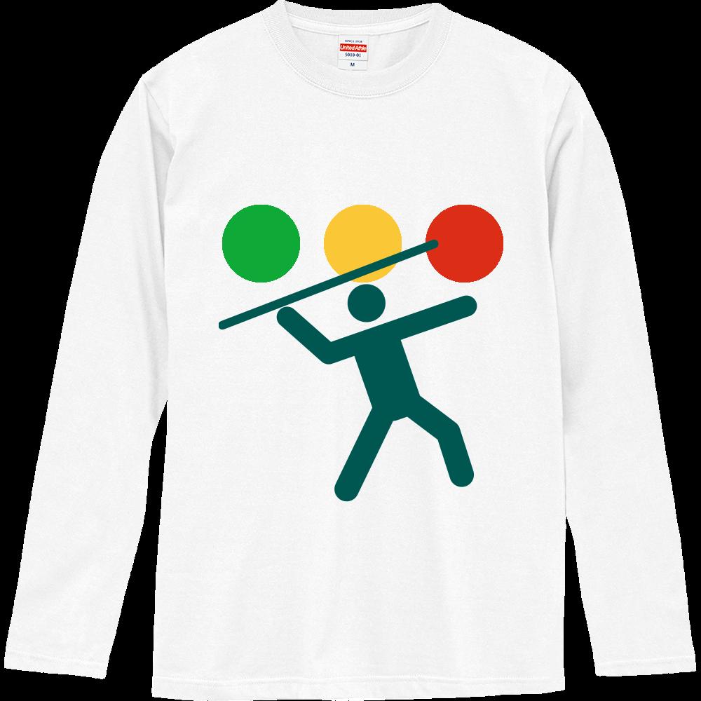 団子の串抜き選手権(硬式ロゴ) ロングスリーブTシャツ
