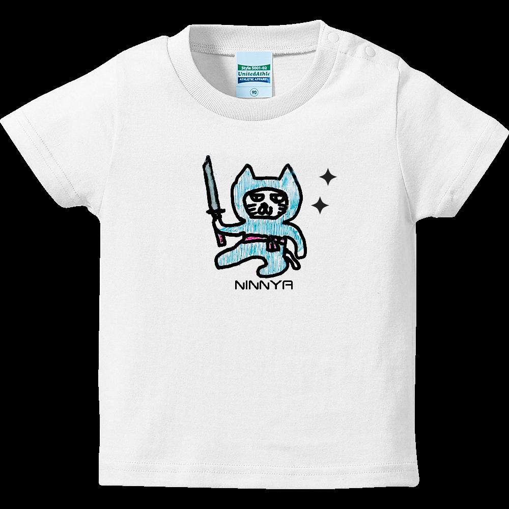 忍者猫 ハイクオリティーベビーTシャツ